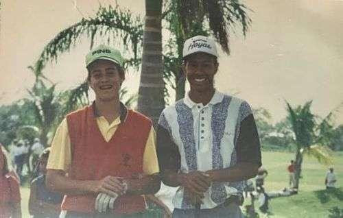 Oscar y Tiger Woods