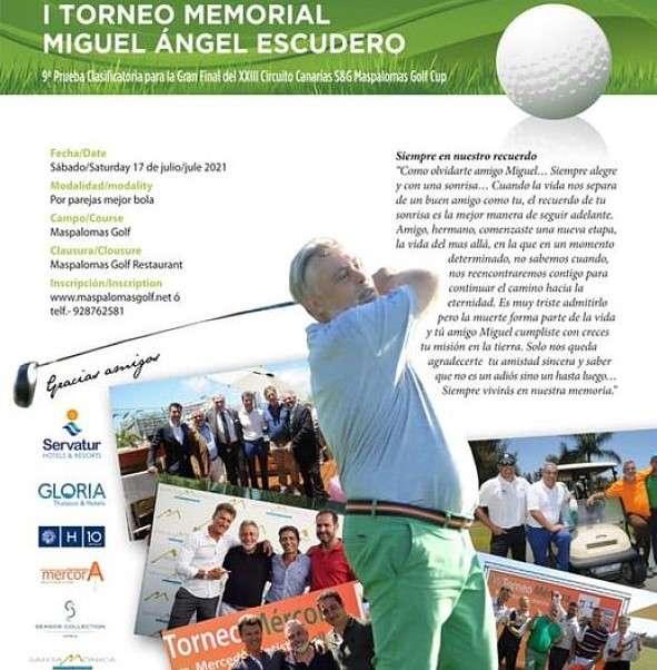 Cartel I Torneo Memorial Miguel Ángel Escudero